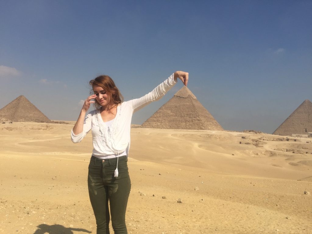 Visiting the pyramids in Egypt